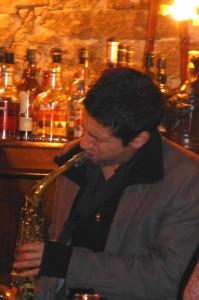 Karl am Saxophon