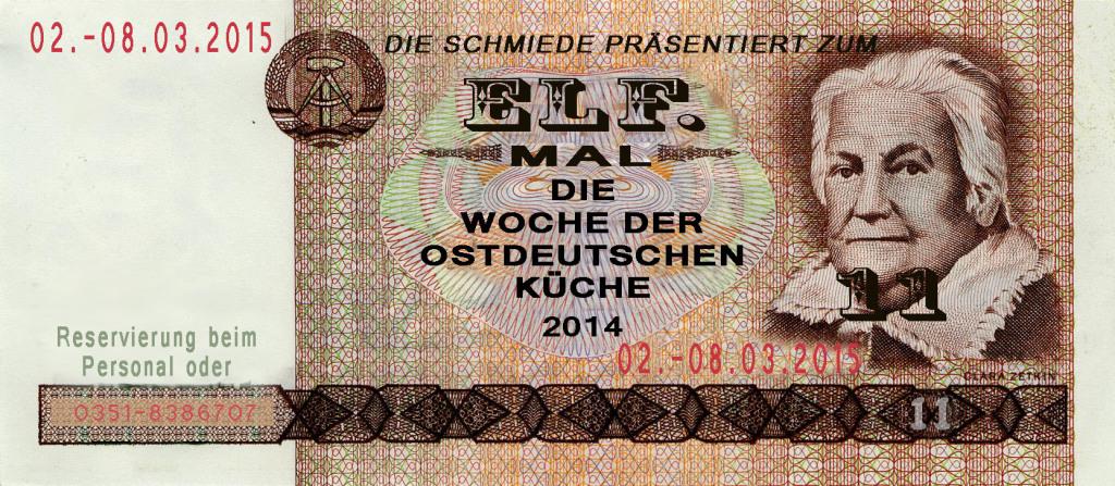 Woche der Ostdeutschen Küche @ Die Schmiede | Radebeul | Sachsen | Deutschland