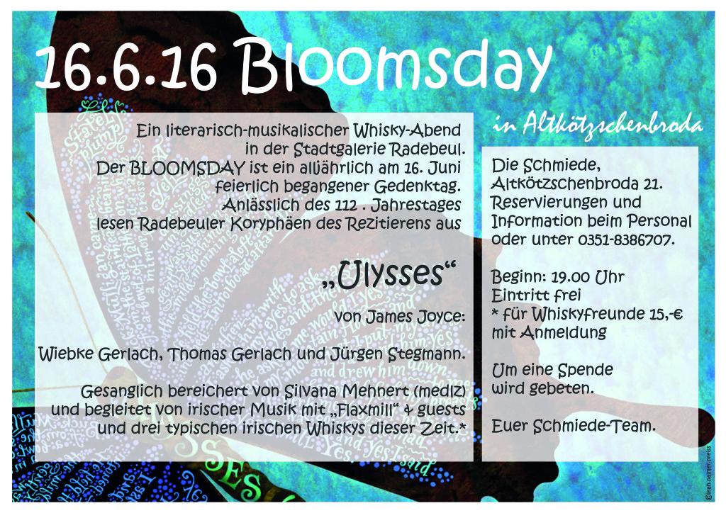 Bloomsday 2016 @ Die Schmiede | Radebeul | Sachsen | Deutschland